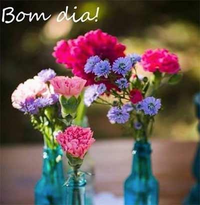 mensagem de bom dia com flores - bom dia!